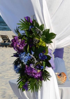 Silk Arbor Flowers Purple and Blue Big Day Weddings