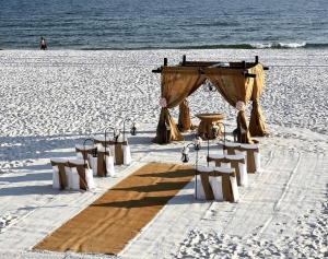 Burlap Iron Beach Wedding Big Day Weddings