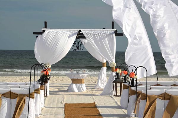 Burlap Beach Wedding Gulf Shores Alabama 3