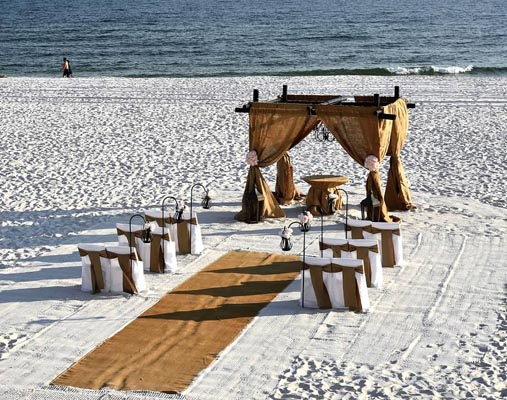 Burlap Beach Wedding Orange Beach