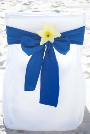 Royal Blue with Yellow Lily