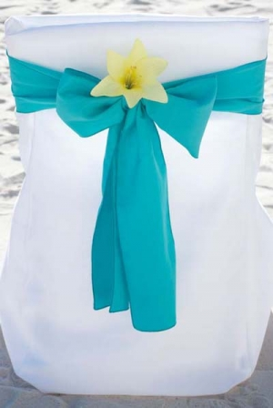 Turquoise with Yellow Lily