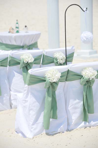 Big Day Weddings Colonnade Celadon Chair Sash