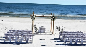 Big Day Weddings Gray Sash Beach Wedding