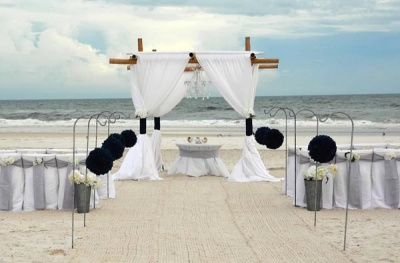Kissing Balls Beach Wedding Package Big Day Weddings JV