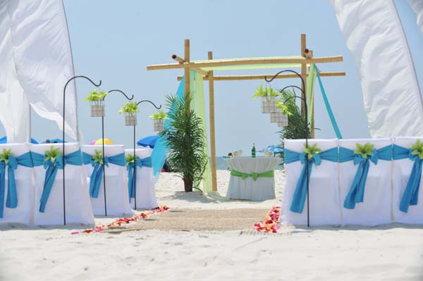 Big Day Wedding Ocean Blue and Lime 15