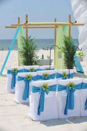 Big Day Wedding Ocean Blue and Lime 11
