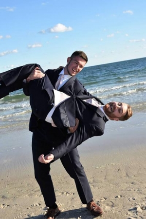 Big Day Weddings Beach Bridal Party Groomsmen Fun
