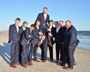 Big Day Weddings Beach Bridal Party Groomsmen