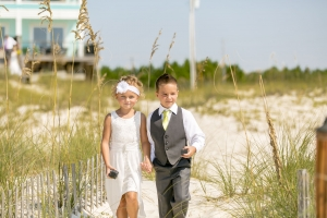 Big Day Weddings Flower Girl and Ringbearer Beach House Wedding