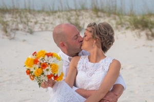 Big-Day-Weddings-Our-Brides-Happy-Couple-Kissing-on-Beach