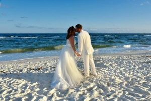 Big-Day-Weddings-Our-Brides-Romantic-Couple-Kissing-Beach