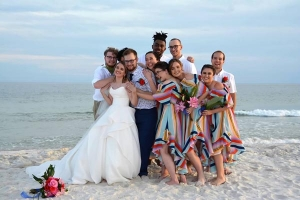 Bridal Party Beach Wedding Big Day Weddings Gulf Shores HM