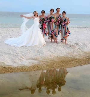 Bride and Bridesmaids Beach Wedding Big Day Weddings HM