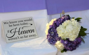 Our Brides Big Day Weddings Bouquet with Sign