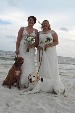Our Brides with Dogs on the Beach Big Day Weddings