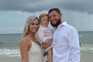 Our Brides Happy Couple with Child Big Day Weddings