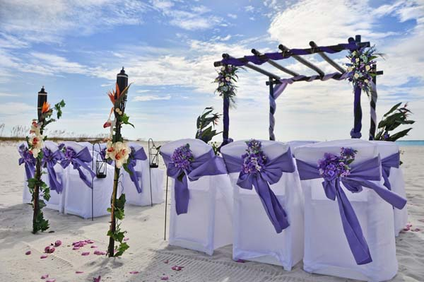 Big Day Weddings Amethyst Beach Setup