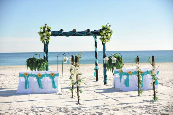 Big Day Weddings Turquoise Beach Theme 1