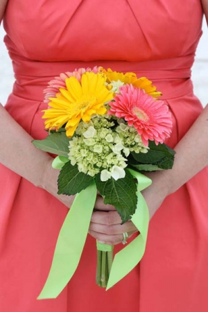 Beach Wedding Mixed Gerbera Daisy Bouquet Big Day Weddings