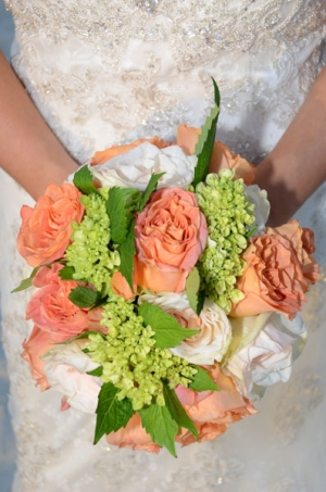 Beach Wedding Peach Rose Bouquet Big Day Weddings