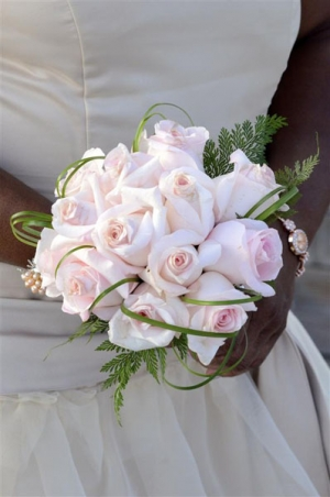 Beach Wedding Pink Rose Bouquet Big Day Weddings
