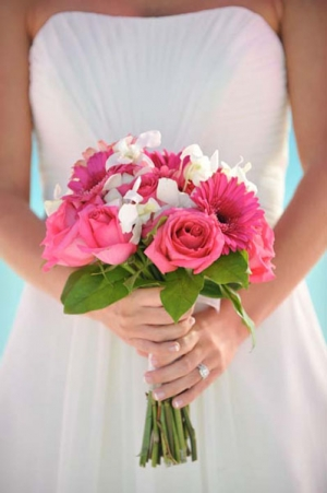 Beach Wedding Pink and White Classic Bouquet Big Day Weddings