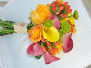 Beach Wedding Tropical Calla Lily Bouquet Big Day Weddings