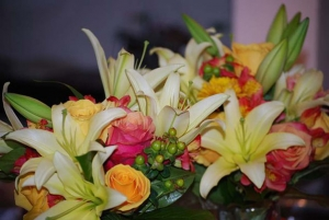 Beach Wedding Tropical Lilly and Rose Bouquet Big Day Weddings