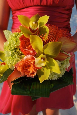 Beach Wedding Tropical Orchid Bouquet Big Day Weddings