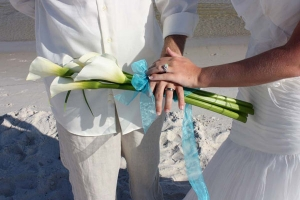 Beach Wedding White Calla Lilly Bouquet Big Day Weddings