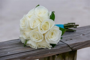 Beach Wedding White Rose Bouquet Big Day Weddings Orange Beach