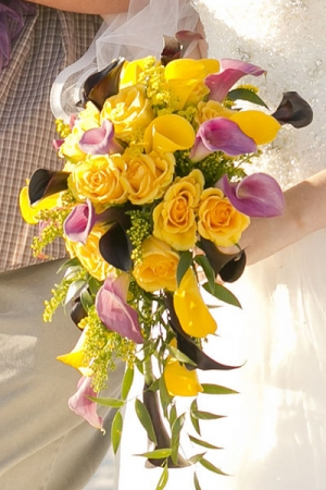 Beach Wedding Yellow Rose and Calla Lily Bouquet Big Day Weddings