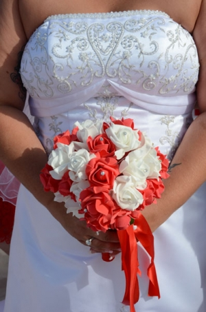 Beach Wedding Coral and White Bouquet Big Day Weddings