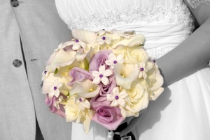 Beach Wedding Lavender and Cream Bouquet Big Day Weddings