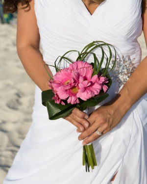 Beach Wedding Light Pink Gerbera Daisy Bouquet Big Day Weddings