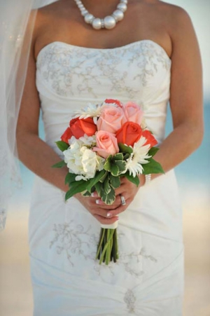 Beach Wedding Mixed Rose Bouquet Big Day Weddings