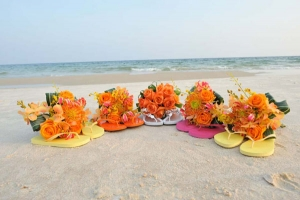 Beach Wedding Orange Bouquets Big Day Weddings