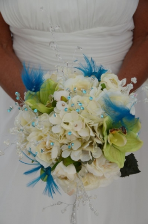 Beach Wedding White Orchid Mixed Bouquet Big Day Weddings