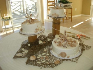 Big Day Orange Beach Wedding Cake 16