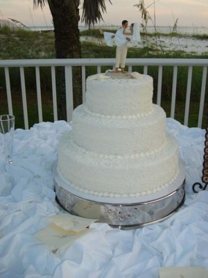 Big Day Orange Beach Wedding Cake 21