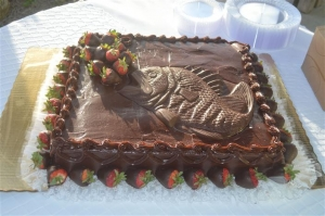 Big Day Orange Beach Wedding Cake 7