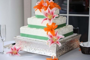 Big Day Orange Beach Wedding Cake 23
