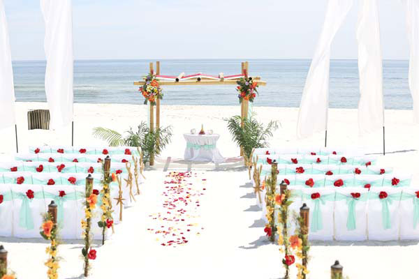 Romar Beach Alabama Beach Wedding Location