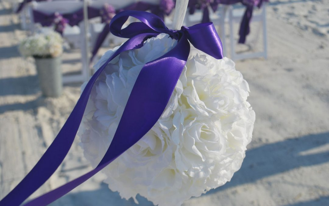 Beach Wedding Kissing Balls