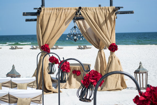 Alabama Beach Wedding Package Burlap and Iron